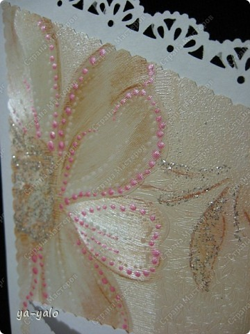 Открытку похожей формы видела у Марины (МАРСАМ) http://stranamasterov.ru/node/205150#comment-1821459 Очень розовая она у меня получилась))))) и очень смахивает на ширмочку  фото 11