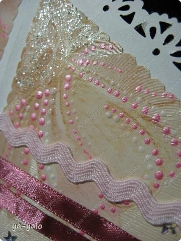 Открытку похожей формы видела у Марины (МАРСАМ) http://stranamasterov.ru/node/205150#comment-1821459 Очень розовая она у меня получилась))))) и очень смахивает на ширмочку  фото 10