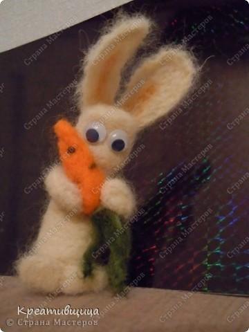 Моя  валяшка заяц Степашка)) фото 1
