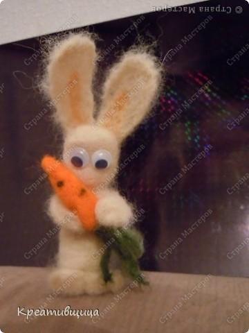Моя  валяшка заяц Степашка)) фото 2