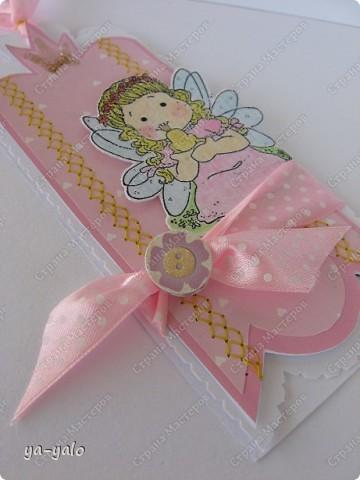 """Сегодня утром слифтила вот эту открыточку http://scrapalbum.blogspot.com/2011/03/its-your-birthday.html Оказывается наше милое слово """"повторюшка"""" можно заменить книжным """"лифтинг"""")))) фото 1"""