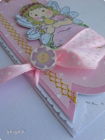 """Сегодня утром слифтила вот эту открыточку http://scrapalbum.blogspot.com/2011/03/its-your-birthday.html Оказывается наше милое слово """"повторюшка"""" можно заменить книжным """"лифтинг"""")))) фото 3"""