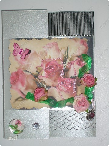 По этому М.К. сделала вот такую открыточку  http://stranamasterov.ru/node/57010  Обычный стеклянный камушек я обклеила с обратной стороны маленьким кусочком салфетки с рисунком,смотрится очень интересно! фото 2