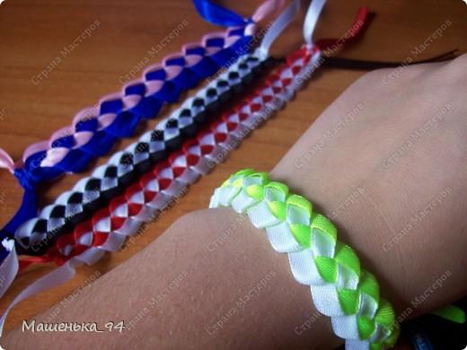 Фенечки и браслеты из атласных лент! фото 3