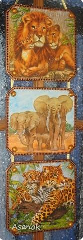 """Панно назвала """"Семья"""" потому что на всех трех частях изображены семьи животных. фото 1"""