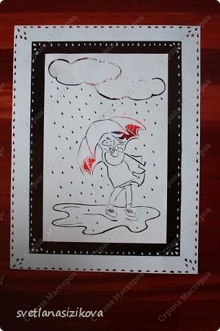 Знаю, что сейчас в России лето, но у нас настоящая чилийская зима и  уже третий день идёт дождь... Вот в такую погоду и навырезалось... фото 3