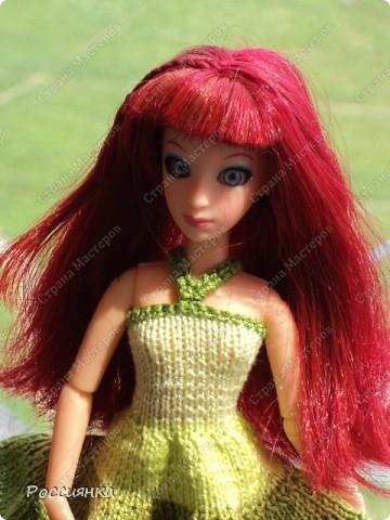 """Сарафан для куклы """"Все оттенки зеленого"""". фото 2"""