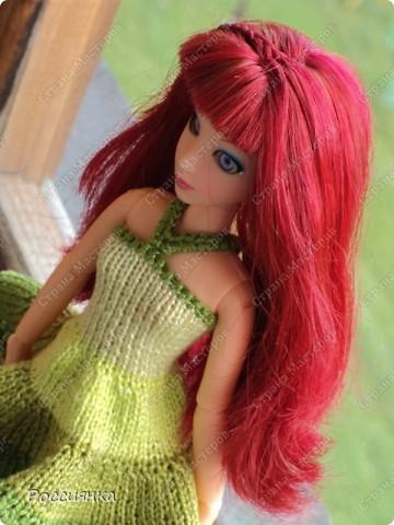 """Сарафан для куклы """"Все оттенки зеленого"""". фото 3"""