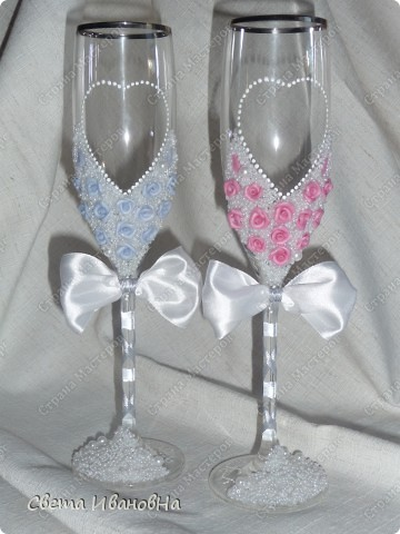 Свадебные бокалы  фото 4