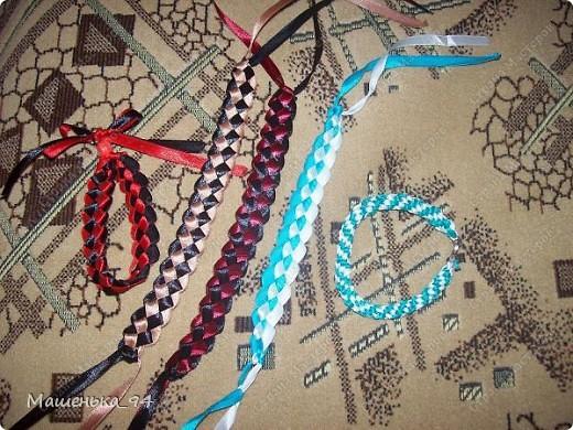 Фенечки и браслеты из атласных лент! фото 6