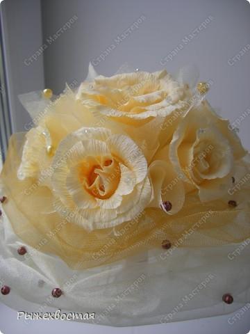 Свит-дизайн Свадьба Моделирование конструирование Дубль-букет невесты из конфет Бумага гофрированная фото 2