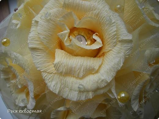 Свит-дизайн Свадьба Моделирование конструирование Дубль-букет невесты из конфет Бумага гофрированная фото 3