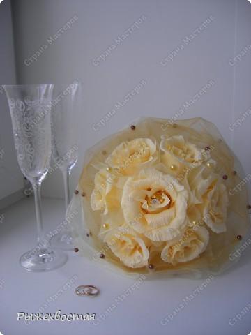 Свит-дизайн Свадьба Моделирование конструирование Дубль-букет невесты из конфет Бумага гофрированная фото 1