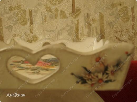 """Набор """"Букет"""" Дерево, стекло, рисовая карта, акриловая краска фото 4"""