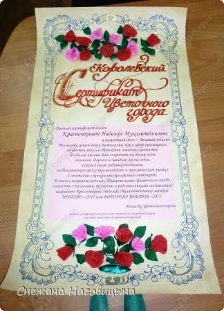 Сертификат - свиток фото 1