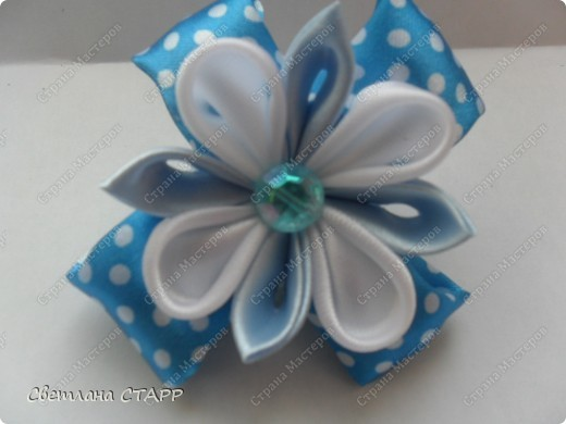 Давно не делала своей принцессе новых резиночек,исправляюсь!Вот в голубом цвете. фото 1
