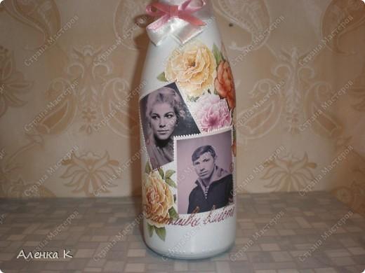 Бутылочка с фото, на 40-летие совместной жизни. Лицевая сторона. фото 3