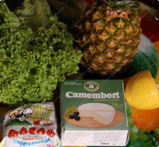 Горячий Камамбер с жареным ананасом фото 2