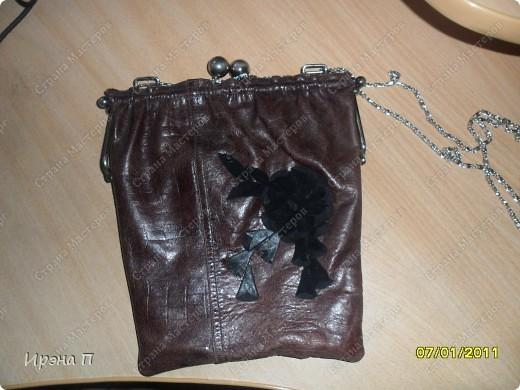 Эта сумка была сшита еще зимой, но времени выложить не было. Сделана из голенища от кожаного сапога. фото 2