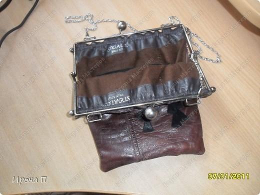 Эта сумка была сшита еще зимой, но времени выложить не было. Сделана из голенища от кожаного сапога. фото 3