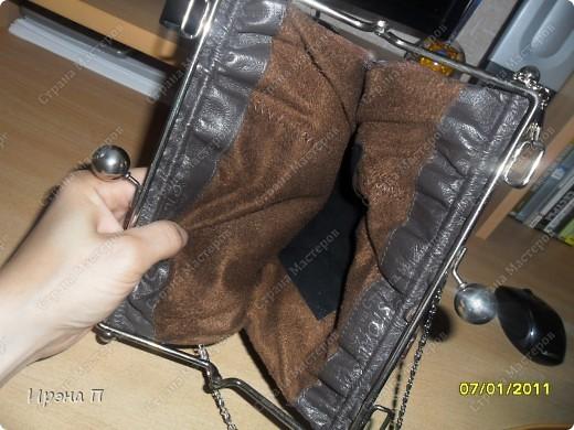 Эта сумка была сшита еще зимой, но времени выложить не было. Сделана из голенища от кожаного сапога. фото 4