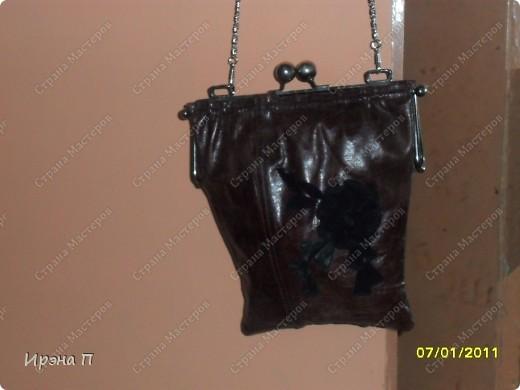 Эта сумка была сшита еще зимой, но времени выложить не было. Сделана из голенища от кожаного сапога. фото 5