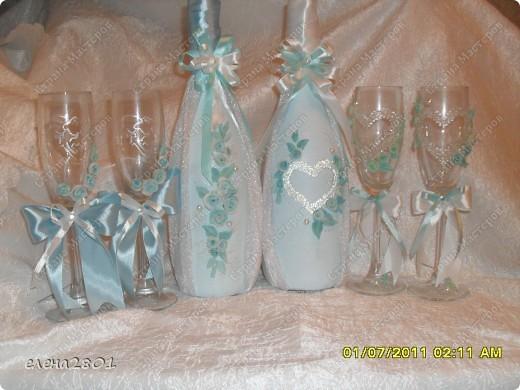 Вот такой набор  в голубом цвете мне заказали на свадьбу. Цвет выбран под платье невесты. фото 1