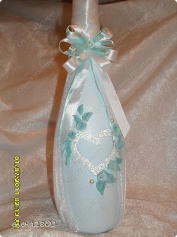 Вот такой набор  в голубом цвете мне заказали на свадьбу. Цвет выбран под платье невесты. фото 3