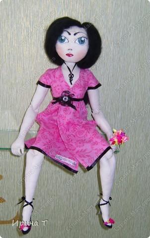 Шарнирная текстильная кукла! фото 2