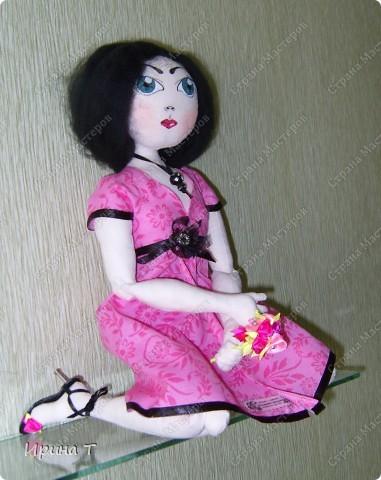 Шарнирная текстильная кукла! фото 4
