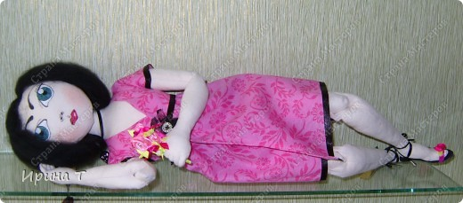 Шарнирная текстильная кукла! фото 5