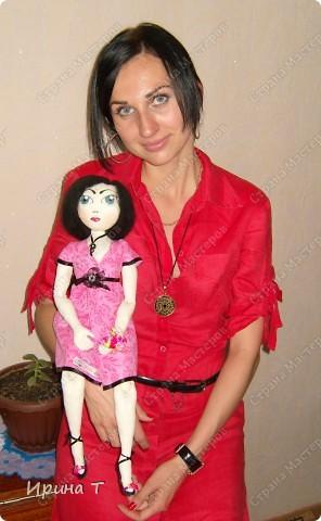 Шарнирная текстильная кукла! фото 9