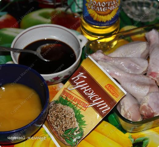 Куриная голень с персиками фото 2