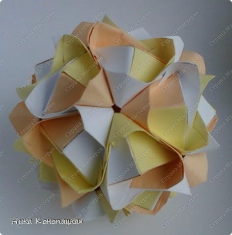 Name: Lotus Crown Designer: Mariya Sinayskaya Parts: 30 Paper: 8*8 cm Joint: no glue фото 2