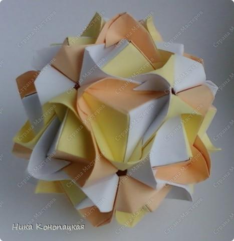 Name: Lotus Crown Designer: Mariya Sinayskaya Parts: 30 Paper: 8*8 cm Joint: no glue фото 1