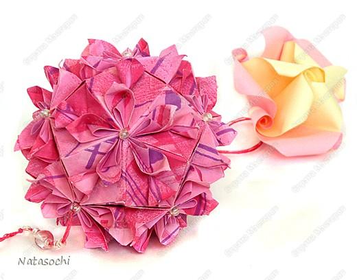 Добрый день! Работы разные. Разные по стилю, бумаге и характеру.  Первая кусудама. Автор: Tanya Vysochina, Модель: Kiss of Sakura фото 8
