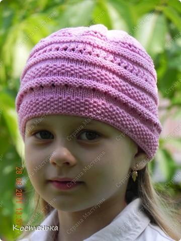 Гардероб Вязание спицами Летние шапочки спицами Пряжа фото 1