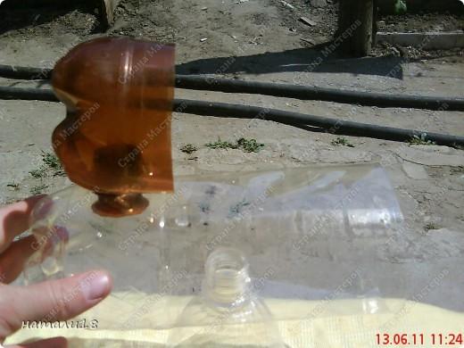 В садик необходима была поделка из бутылок.Вот такую КИСКУ мы сделали! фото 11