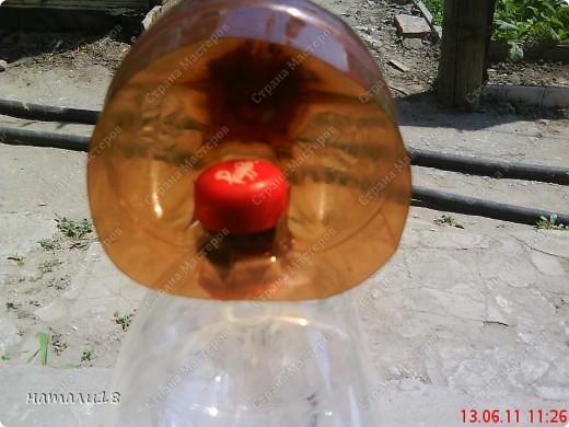 В садик необходима была поделка из бутылок.Вот такую КИСКУ мы сделали! фото 13