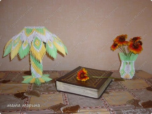 Модульное оригами - лампа.