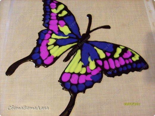 .........рассказ пойдет не о бабочках......мастер-классов о них у нас в Стране Мастеров достаточно......а вот что делать , когда у вас нет ( кончились) витражные краски......или в магазин их не завезли............ фото 8