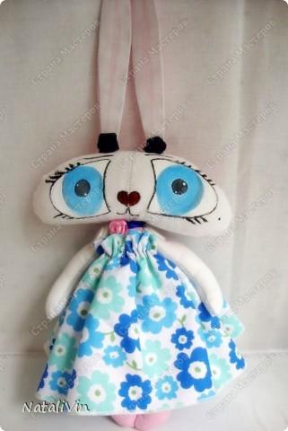Обещала сшить зайца, а получилась опять зайчиха ))) Ну вот как то так... фото 2