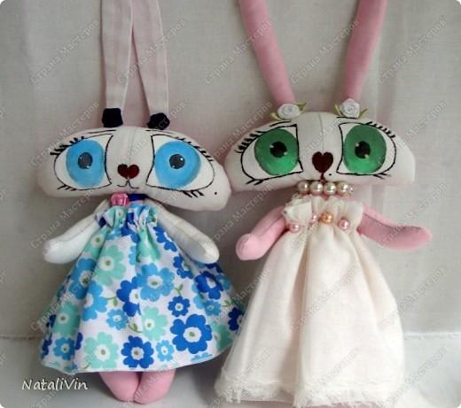 Обещала сшить зайца, а получилась опять зайчиха ))) Ну вот как то так... фото 5