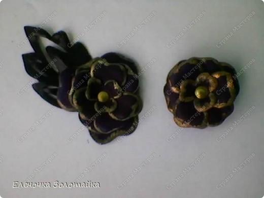 Цветы из кожи фото 9