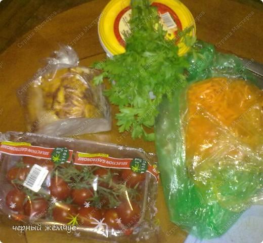 Салат из корейской морковки + десерт фото 2