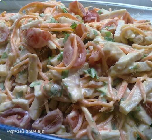 Салат из корейской морковки + десерт фото 8