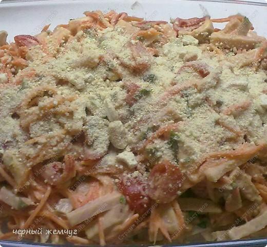 Салат из корейской морковки + десерт фото 9