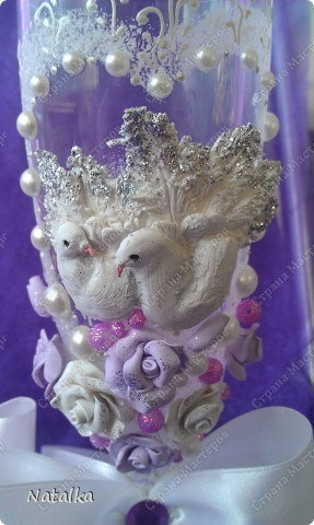 Делала бокалы под впечатлением работ Саровочки. Надеюсь невесте они понравятся. фото 9