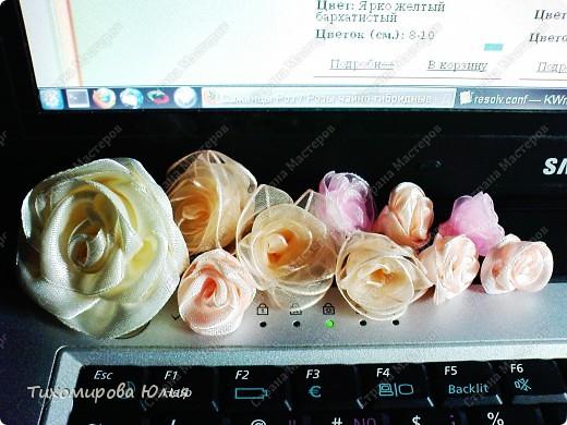 Мои любимые розы. Здесь я каждый лепесток пришивала отдельно фото 3