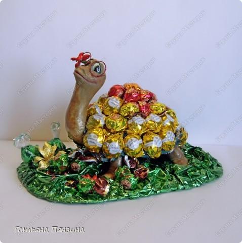 Вот такая сладенькая черепашка у меня получилась)))  фото 1